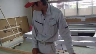 島根県出雲市看板エヌサイン自社工場木枠組み