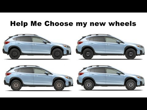 2018 Crosstrek:  Help Me Choose off road Wheels and tires