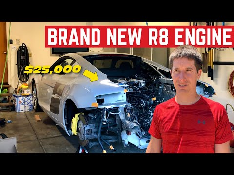 BUYING The $25,000 V8 ENGINE For My Broken Audi R8
