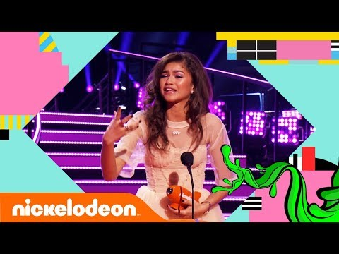 Zendaya Wins A Blimp For The 3rd Year in a Row! 🏆 | Kids' Choice Awards 2018 | Nick