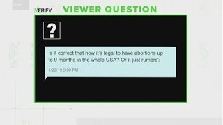 Is it legal to have abortions at up to 9 months in the U.S.? | VERIFY