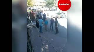 Konya'da okul önünde şok görüntüler! Döner bıçağıyla kavga