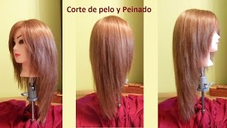 Corte de cabello en punta sin capas