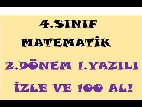 4 Sinif Matematik Dersi 2dönem 1yazili Hazirlik