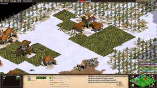 Aoe2 HD: 4v4 Black Forest (Goths, Economic Boom) (11/4/13)