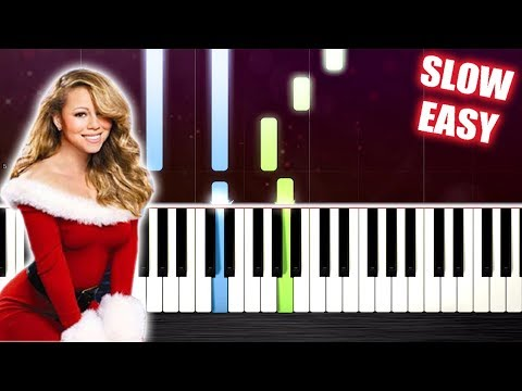 Mariah Carey - All I Want For Christmas Is You - SLOW EASY Piano Tutorial by PlutaX