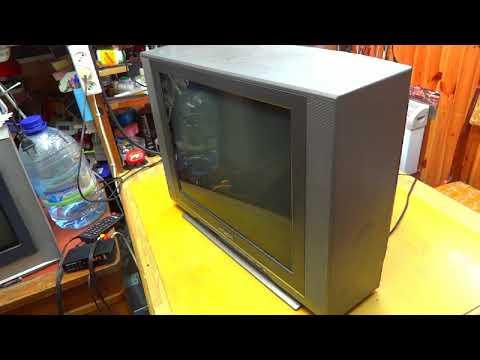 Ремонт телевизора HITACHI C21-TF330S. Курсы телемастеров.