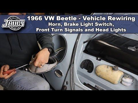 JBugs - 1966 VW Beetle - Vehicle Rewiring - Front End Wiring