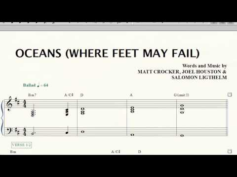 Oceans Where Feet May Fail Piano Cover Tutorial