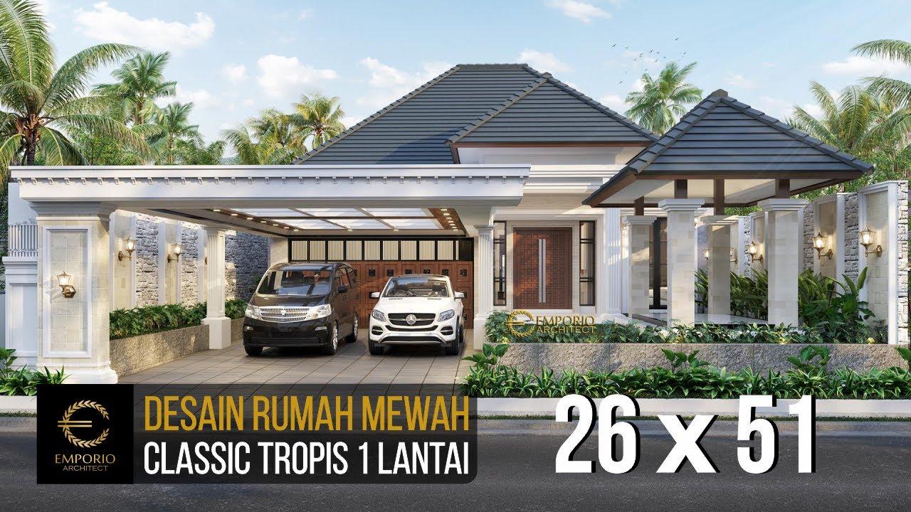 Video 3D Mr. Asep Billy Classic House 1 Floor Design - Pangandaran, Jawa Barat