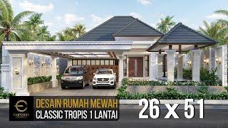 Video Desain Rumah Classic 1 Lantai Bapak Asep Billy di  Pangandaran, Jawa Barat