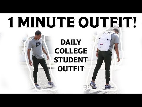 f57cf3897e77f 1 MINUTE FIT  Basic Daily College Student Outfit (Nike