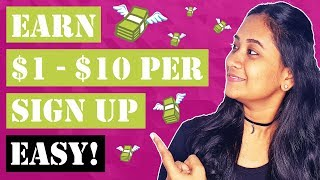 Earn $1 - $10 Dollars Per Sign Up (For Beginners)