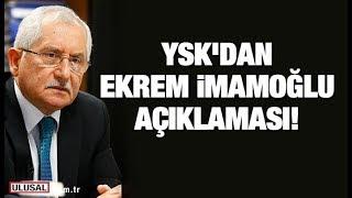 YSK Başkanı Sadi Güven İstanbul'da Son Durumu Açıkladı