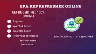EPA Lead-Safe Certified Renovator Online