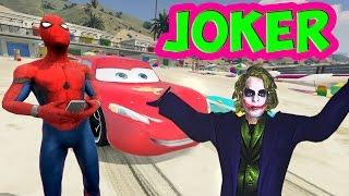 Şimşek McQueen ve Örümcek Adam Joker ile Dost Oluyor (Çizgi Film Tadında - Türkçe Dublaj)