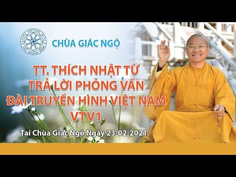 TT. Nhật Từ trả lời phỏng vấn Đài Truyền hình Việt nam VTV