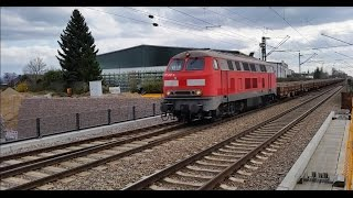 preview picture of video 'BR 217 mit Schotterzug'