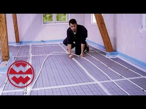 DIY: Fußbodenheizung - Welt der Wunder