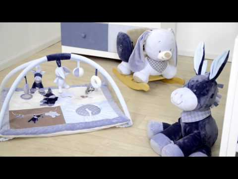 Мягкая игрушка Nattou Кролик Бибу, 34 см