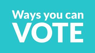 Early Voting Options (animated) | Elections Canada