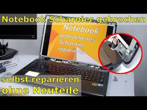 Notebook Scharnier im Display gebrochen und reparieren FIX