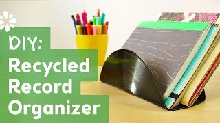 How to Make a Recycled Vinyl Record Organizer