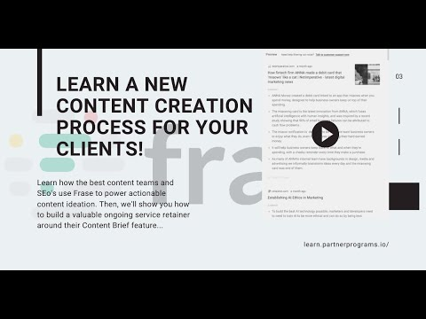 A new content creation process using Frase.io