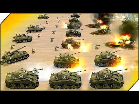США НАСТУПАЕТ ТАНКАМИ - СИМУЛЯТОР Второй Мировой Войны WW2 Battle Simulator # 13 Стратегии