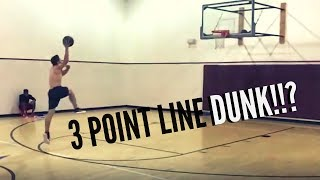 3 POINT LINE DUNK?!?!?!?!