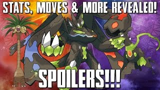 MAJOR SPOILERS! POKEMON SUN & MOON ALOLAN FORMS & ZYGARDE FORMS STATS, MOVES & MORE REVEALED!!