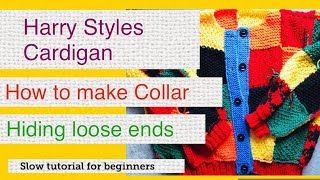 How to make Harry Styles Cardigan Knitting Tutorial Part 6: Collar