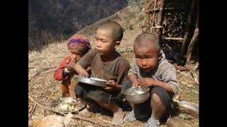 Village Children Eating Organic Food Ll Lacking Food For Children Ll Rural Life Ll Village Food Ll