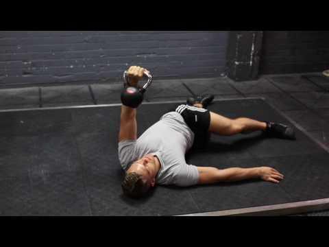 Leg Over Kettlebell Floor Press