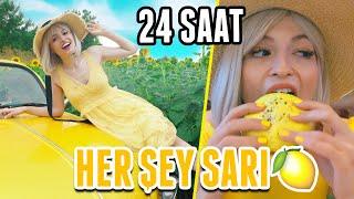 24 SAAT BOYUNCA HER ŞEY SARI!!!( SARI VOSVOS, SARI SAÇ, SARI HAMBURGER..)