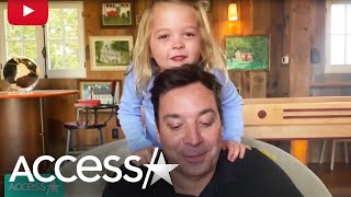 Jimmy Fallons Daughters Adorably Interrupt Dads Show From Home