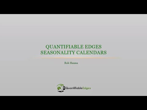 Introducing the New Quantifiable Edges Seasonality Calendars
