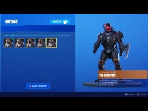 Fortnite Season X Unlock The Scientist Skin And Edit Styles This Is The Complete Scientist Skin