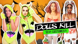 Trying the Weirdest Sexy Halloween Costumes From Dolls Kill! by Clevver Style