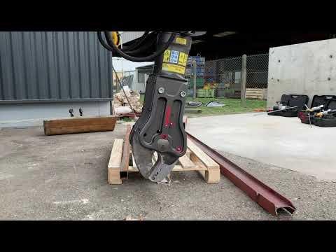 Démo cisaille hydraulique 85T sur mini-pelle électrique/hybride - DUMATOS LOCATION Démo cisaille hydraulique 85T sur mini-pelle électrique/hybride - DUMATOS LOCATION