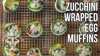 Zucchini Wrapped Potato & Egg Muffins / Magdalenas de Huevo Envueltas en Calabacín