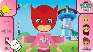 PJ MASKS Gameplay ❤️ Catboy and Owlette with Paw Patrol Skye Cartoons for kids | Costume Time.