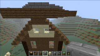 preview picture of video 'Minecraft Lets Build a Village-Part 4-The Windmill'
