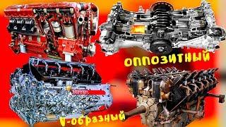 Что значит V образный двигатель, рядный, оппозитный, в чем их отличие