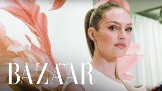 Candice Swanepoel's 2018 Victoria's Secret Fashion Show Fitting   Harper's BAZAAR