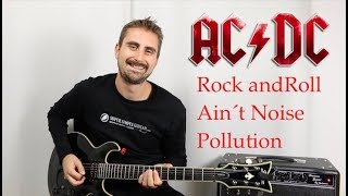 AC/DC - Rock And Roll Ain't Noise Pollution - Guitar lesson - Tutorial - how to play