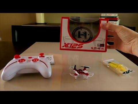 Syma X12S Nano Review and Indoor Flight Demo