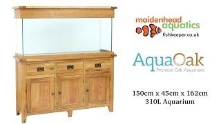 Aqua Oak 150cm 'Drawers & Doors' Aquarium and Cabinet (AQ150DD)