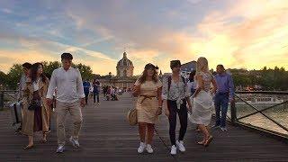 Walking Paris's STUNNING Seine Riverside at Sunset