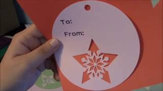 How to write on tags use slice use weld on gift tags with Cricut